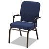Oversize Stack Chair with Arms, Navy Fabric Upholstery, 2/Carton