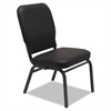 Alera Oversize Stack Chair, Black Antimicrobial Vinyl Upholstery, 2/Carton