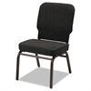 Alera Oversize Stack Chair, Black Fabric Upholstery, 2/Carton