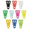 "Paper Clips, Plastic, Large (1-3/8""), Assorted Colors, 200/ Box"