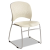 Rêve Series Guest Chair With Sled Base, Latte Plastic, Silver Steel, 2/CT
