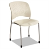 Safco Rêve Series Guest Chair W/ Straight Legs, Latte Plastic, Silver Steel, 2/Carton