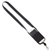 "Cell Phone Lanyard, 30"", Snap Hook, Black, 5/PK"