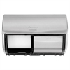 Compact Horizontal 2-Roll Tissue Dispenser, Stnlss Steel, 10 1/8 x 6 3/4 x 7 1/8