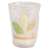 SOLO Cup Company Bare RPET Cold Cups, Leaf Design, 10 oz, Individually Wrapped, 500/Carton