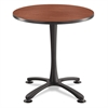 "Cha-Cha Sitting Height Table Base, X-Style, Steel, 29"" High, Black"