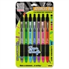 Z-Grip Neon Retractable Ballpoint Pen, 1.0 mm, Medium, Assorted, 7/Set