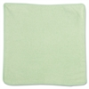 Rubbermaid Commercial Microfiber Cleaning Cloths, 12 x 12, Green, 24/Pack