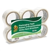 "Duck Commercial Grade Packaging Tape, 2"" x 22, 1.88"" x 55 yds, Clear, 3"" Core, 6/Pack"