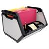 Advantus Stackable File Bin, Letter, 15 1/4 x 13 3/4 x 11 3/8, Plastic, Black/Gray