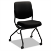 HON Perpetual Series Mobile Nesting Chair, Black Upholstery