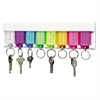 Multi-Color Key Rack, 8-Key, 2 3/4 x 1/2 x 10 1/2, Plastic, White
