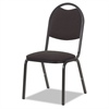 8917 Series Fabric Upholstered Stack Chair, 18w x 22d x 35-1/2h, Black, 4/Carton