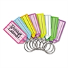 Replacement Tags for Multi-Color Key Rack, 2 1/4, Square, Assorted Colors, 4/PK