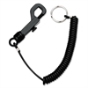 Steelmaster Snap Hook Security Clip with 3 ft. Cord, Plastic, Black