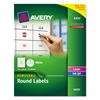 "Avery Removable Multi-Use Labels, 1"" dia, White, 945/Pack"