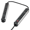 Fellowes Split Metal Surge Protector, 10 Outlets, 6 ft Cord, 1250 Joules, Black/Silver