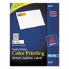 Vibrant Color-Printing Address Labels, 3/4 x 2 1/4, Matte White, 600/Pack