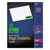 High-Visibility Permanent ID Labels, Laser, 1 x 2 5/8, Neon Green, 750/Pack