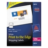 Vibrant Color-Printing Shipping Labels, 4 3/4 x 7 3/4, White, 50/Pack