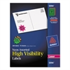 Avery High-Visibility Permanent ID Label Bursts, Laser, 1 1/2 dia, Asst. Neon, 360/PK