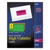 High-Visibility Permanent ID Labels, Laser, 2 x 4, Asst. Neon, 150/Pack