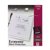 Top-Load Sheet Protector, Economy Gauge, Letter, Semi-Clear, 100/Box
