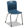 Analogy Ergonomic Stack Chair, Navy/Chrome, 4/Carton