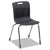 Analogy Ergonomic Stack Chair, Black/Chrome, 4/Carton