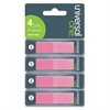 Universal Pop-Up Page Flags, 1/2 x 1-7/10, Pink, 140 per Pack