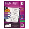 Ready Index Customizable Table of Contents Black & White Dividers, 10-Tab, Ltr