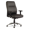 LC Leather Series Self-Adjusting Chair, Black