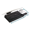 Knob Adjust Keyboard Tray With Highly Adjustable Platform, Black