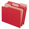 Earthwise Recycled Colored File Folders, 1/3 Cut Top Tab, Letter, Red, 100/Box