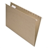 Pendaflex Earthwise Recycled Hanging File Folders, 1/5 Tab, Legal, Natural, 25/Box