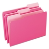 Colored File Folders, 1/3 Cut Top Tab, Legal, Pink/Light Pink, 100/Box
