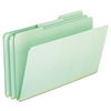 Pressboard Expanding File Folders, 1/3 Cut Top Tab, Legal, Green, 25/Box