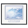 Attitude/Waves Framed Motivational Print, 30w x 24h
