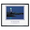 Advantus Vision Lighthouse Framed Motivational Print, 30w x 24h