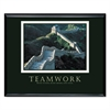 Teamwork (Great Wall Of China) Framed Motivational Print, 30 x 24