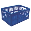 Filing/Storage Tote Storage Box, Plastic, 20-1/8 x 14-5/8 x 10-3/4, Blue