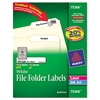 Avery Permanent File Folder Labels, TrueBlock, Inkjet/Laser, White, 1800/Box