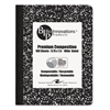 Roaring Spring USDA Certified Bio Preferred Comp Book, 9 3/4 x 7 1/2, 100 Sheets, Black Marble