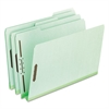 "Pendaflex Pressboard Folders, 2 Fasteners, 2"" Expansion, 1/3 Tab, Legal, Green, 25/Box"