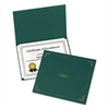 Certificate Holder, 11 1/4 x 8 3/4, Green, 5/Pack