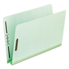 "Pressboard Folders, 2 Fasteners, 2"" Expansion, Full Cut, Letter, Green, 25/Box"