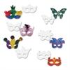 Die Cut Mardi Gras Masks, Paper, 6 Styles, 9 x 4, White, 24/Pack