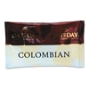 Day to Day Coffee 100% Pure Coffee, Colombian Blend, 1.5 oz Pack, 42 Packs/Carton