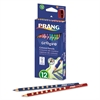 Prang Groove Colored Pencils, Assorted, 3.3 mm, 12/Pack