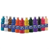 Washable Paint, Assorted, 16 oz, 12 per Set